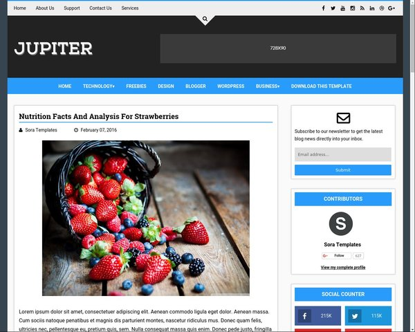 Best Free Blogger Template