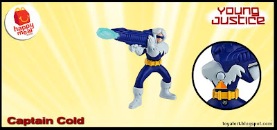 McDonalds Young Justice and Littlest Pet Shop happy meal toy promotion 2011 - Captain Cold