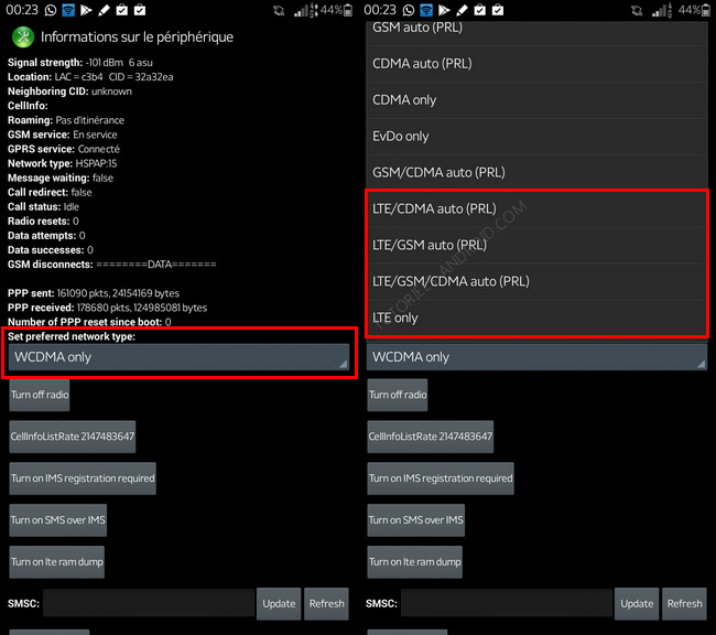 Activer 4G N9005