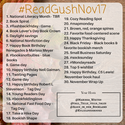 Read Gush November - monthly Bookstagram Challenge on Instagram