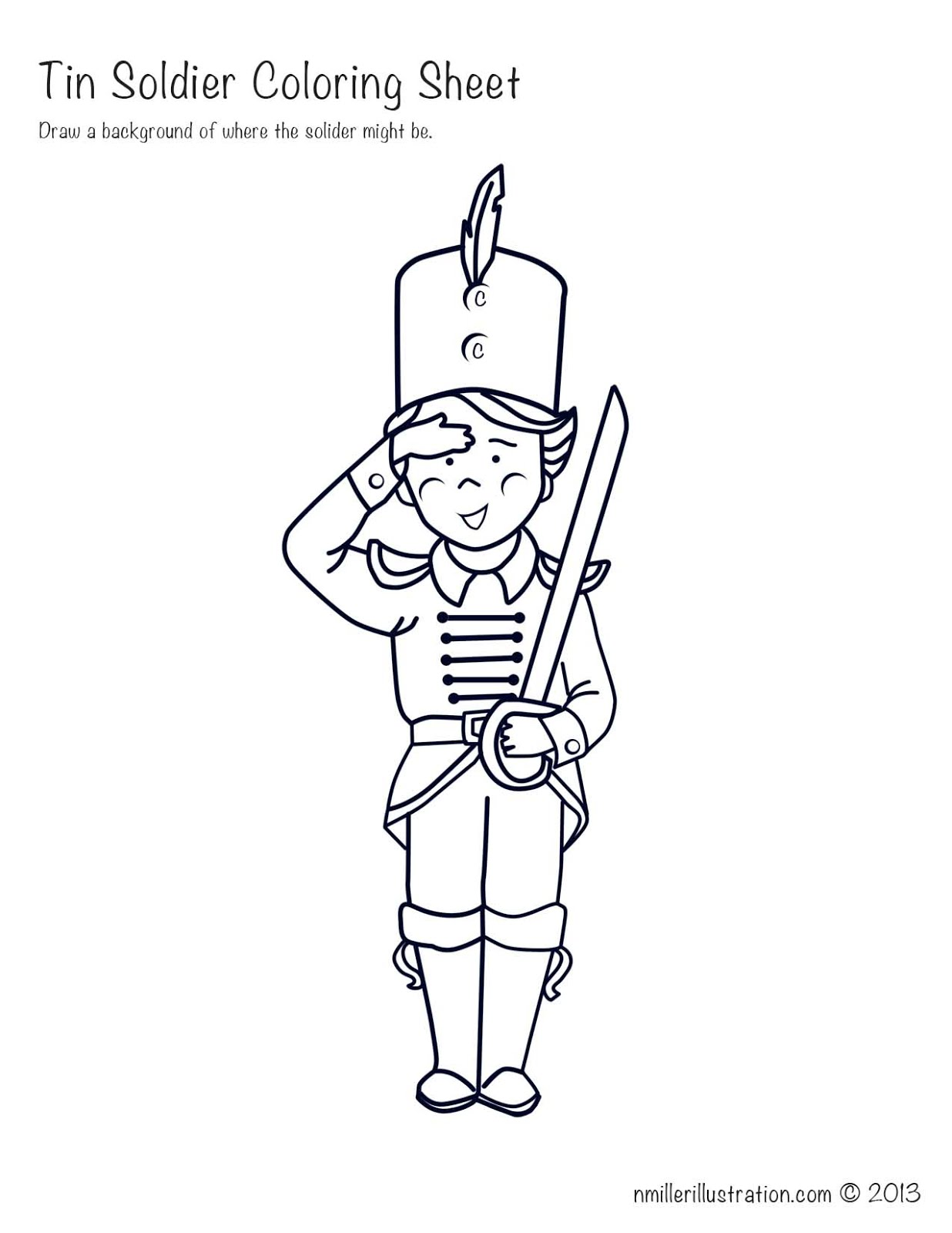Picture This: Tin Soldier Coloring Sheet