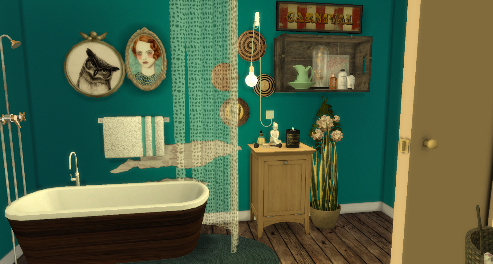 Vintage bathroom the sims 4 download the sims 4 for Bathroom decor sims 3