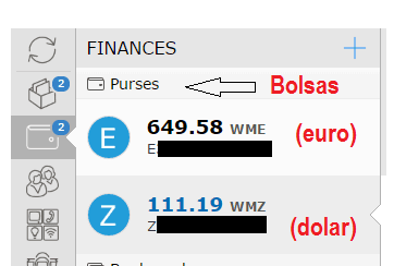 Webmoney Purses (Bolsas)