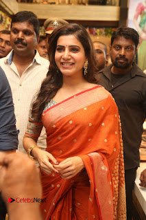 Actress Samantha Pictures in Saree at South India Shoping Mall Launch 0249