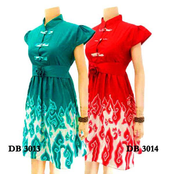 Batik Tulis Dress: Dress Batik Tulis DB3013 Grosir Baju Batik Murah