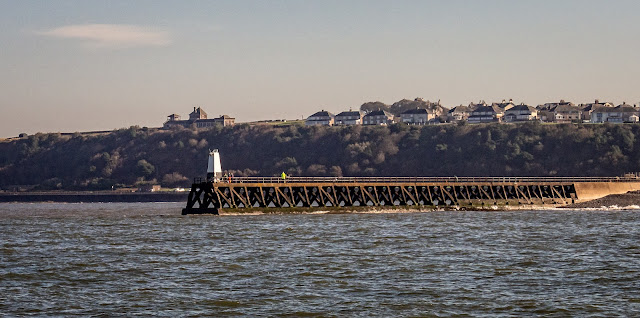 Photo of the view of Maryport pier from our fishing spot