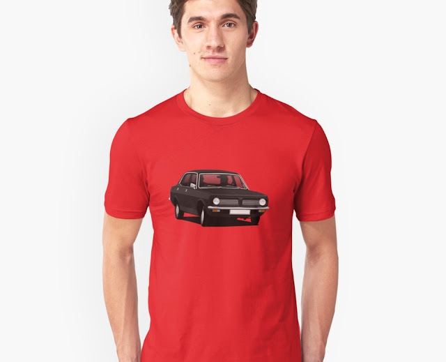 Black Morris Marina - car t-shirt