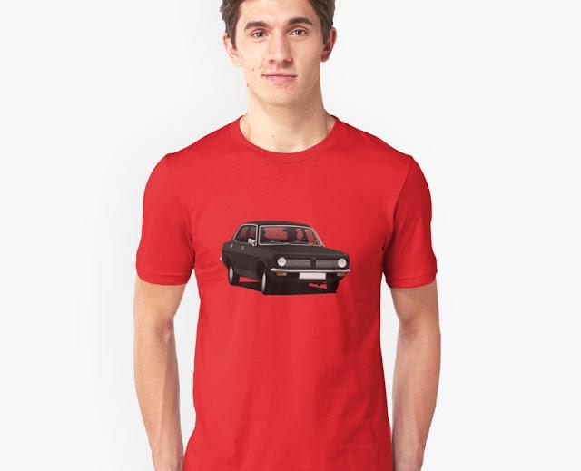 Black Morris Marina - car t-shirt
