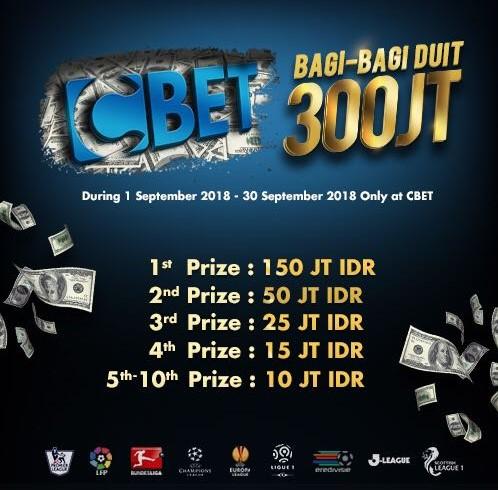 Turnamen CBET Bagi Bagi Hadiah 300 Juta
