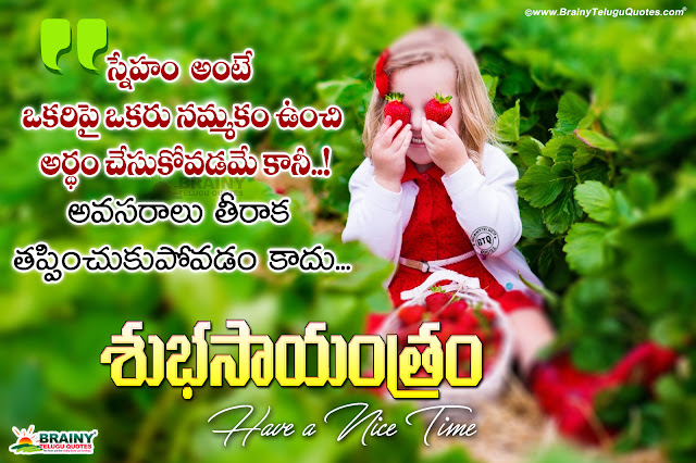 telugu quotes, good evening quotes in Telugu, Subhasayantram Quotes in Telugu