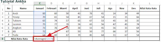 Cara mudah menghitung Nilai Average di Microsoft Excel lengkap
