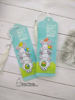 Easter Bookmarks a project by Diane Morales| Easter Pile Up Stamp Set by Newton's Nook Designs.