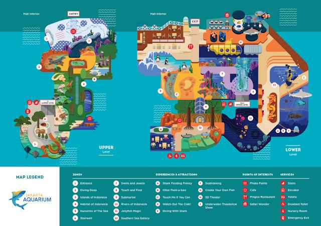 Jakarta Aquarium map
