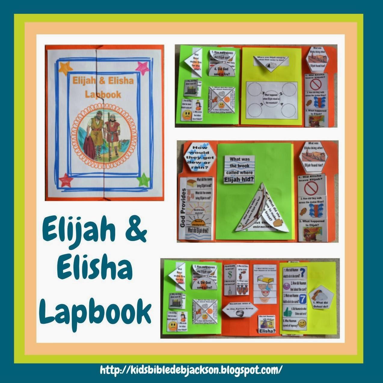 Bible Fun For Kids Elijah Amp Elisha Lapbook