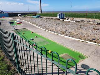 Crazy Golf course at Drift Park in Rhyl