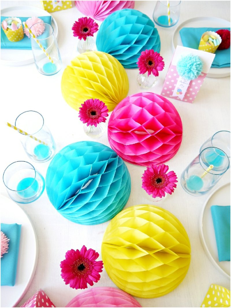 Mother's Day Color Pop Tablescape