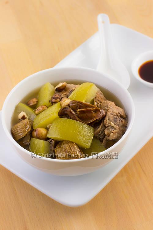 節瓜蠔豉排骨湯【四季湯水】 Hairy Melon Dried Oyster Pork Soup | 簡易食譜 - 基絲汀: 中西各式家常菜譜
