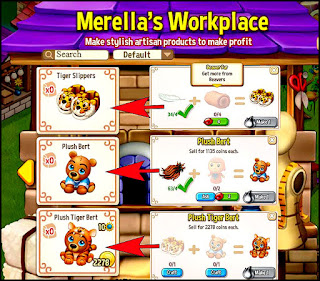 Merella's Workplace with the new Plush Bert craftables