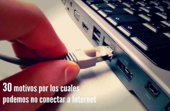 por que no puedo conectar a internet