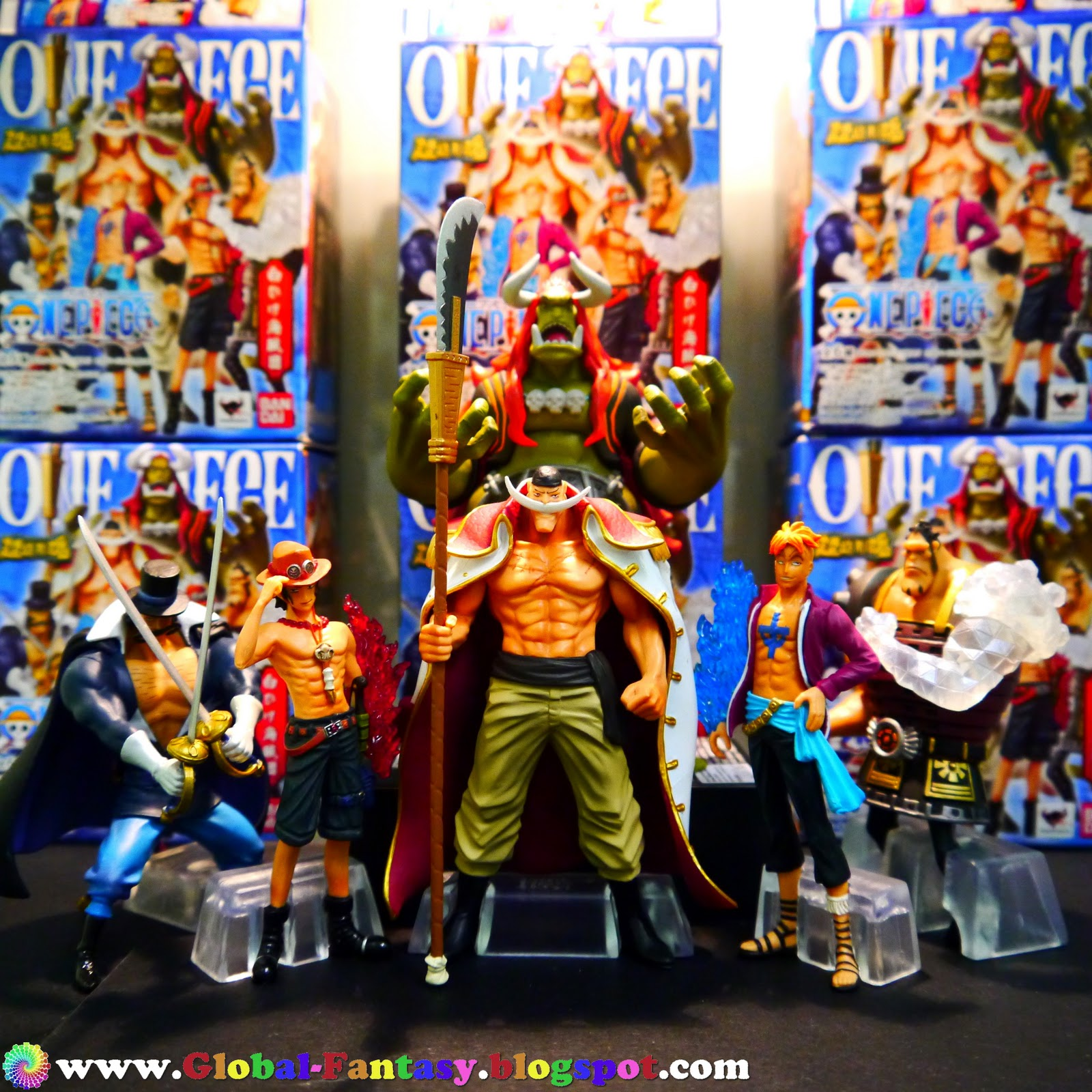 one piece bandai super modeling soul, whitebeard pirates | global