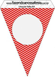 Banderines de Navidad a Rayas para imprimir gratis.
