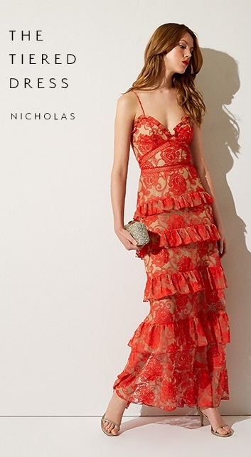 Nicholas Red Tiered Lace