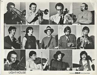 RCA Promo Photo 1969 - from left - Russ Little, Arnie Chycoski, Don Whitton, Paul Hoffert, Leslie Schneider, Pinky Dauvin, Grant Fullerton, Howard Shore, Freddy Stone, Ian Guenther, Don DiNovo, Ralph Cole, Skip Prokop