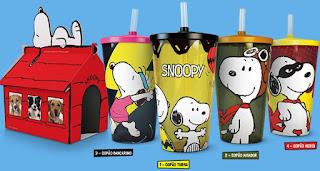Modelos Copos Kit Ragazzo 2017 Turma do Snoopy