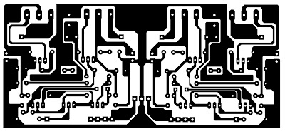 Layout Pcb Power stereo 2x 75 watt OCL
