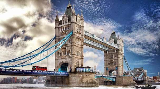 Popularne zabytki w Londynie Most Tower Bridge