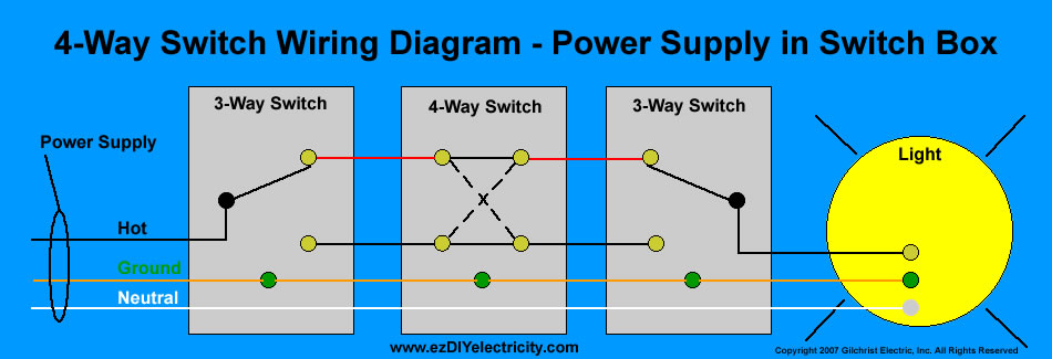 4-way-switch-wiring-diagram  Way Switch Wiring Variations on 3-way switching coast, 4-way switch wiring diagram variations, 1 way switch wiring diagram variations, 3-way circuit diagram, 3-way turn knob switches, 3-way wiring 2 switches, 3-way timers for lights, 3-way switched outlet wiring diagram, 3-way electrical connection diagram, 3-way touch sensor, 3-way lamp wiring diagram, 3-way wiring diagram 12 2, 3-way valve schematic, 3-way switches for dummies, 3-way switching simulator,