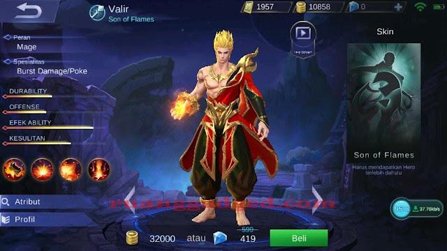 Valir, Hero Mage Baru Mobile Legends
