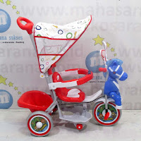 family horse melody baby tricycle