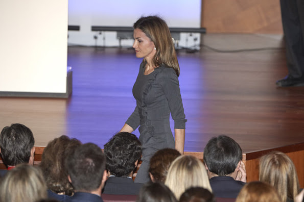 Queen Letizia of Spain attends 'The I Skin Cancer Symposium' at the Palacio de Cibeles