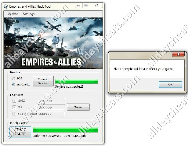 empires and allies cheat hack tool by geohot