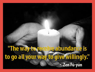 receive abundance by giving willingly quote