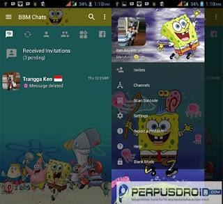 Download BBM Mod Tema Spongebob v3.2.5.12 Apk Android Terbaru