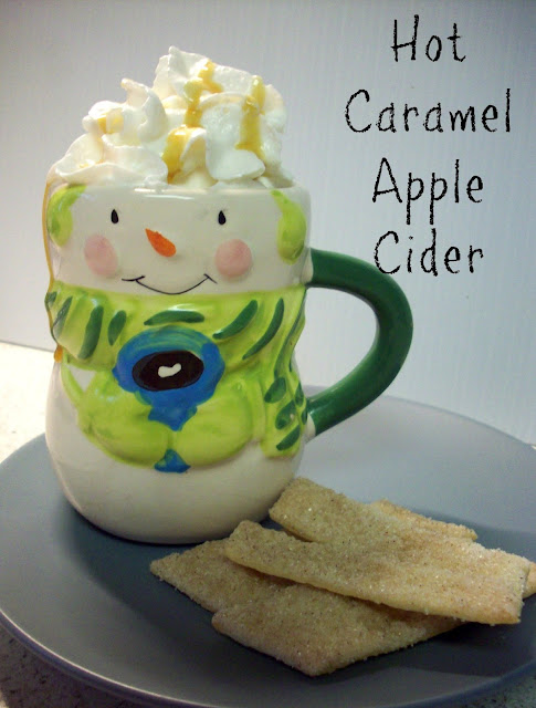 Hot Caramel Apple Cider #Harvestfun #shop #cbias
