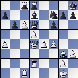 Posición de la partida de ajedrez Golmayo-Colle en el Torneo Internacional de Ajedrez Barcelona 1929
