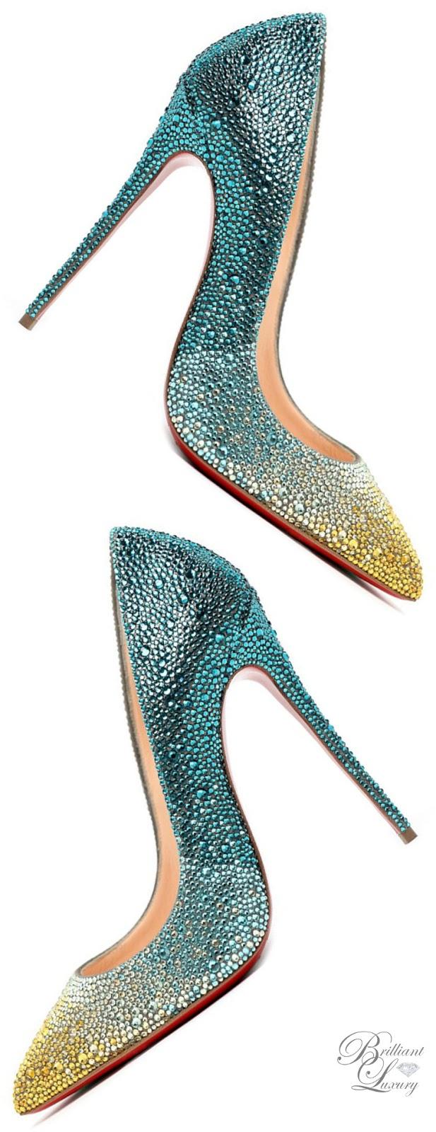 Brilliant Luxury ♦ Christian Louboutin Pigalle Follies Strass