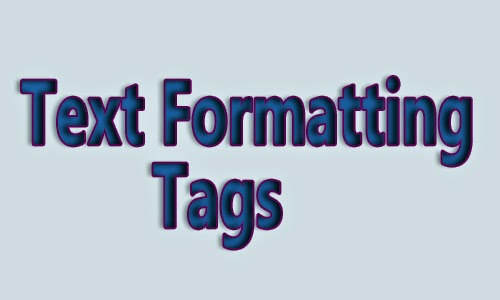 text formatting tags for html