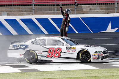 Ford Development Driver, Chase Briscoe became the first NASCAR Xfinity Series (NXS) driver to win the inaugural Xfinity race at the Charlotte Motor Speedway Roval course.