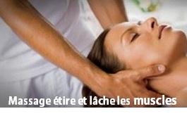 Massage étire et lâche les muscles