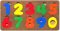 Mainan Puzzle Kayu Untuk Anak Angka Persegi