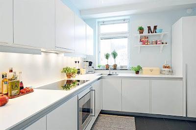 Hiasan Ruang Dapur Warna Cerah Nampak Lebih Luas