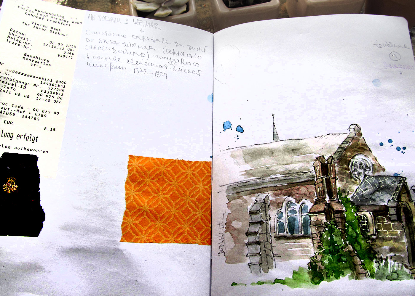 Weimar travel sketchbook