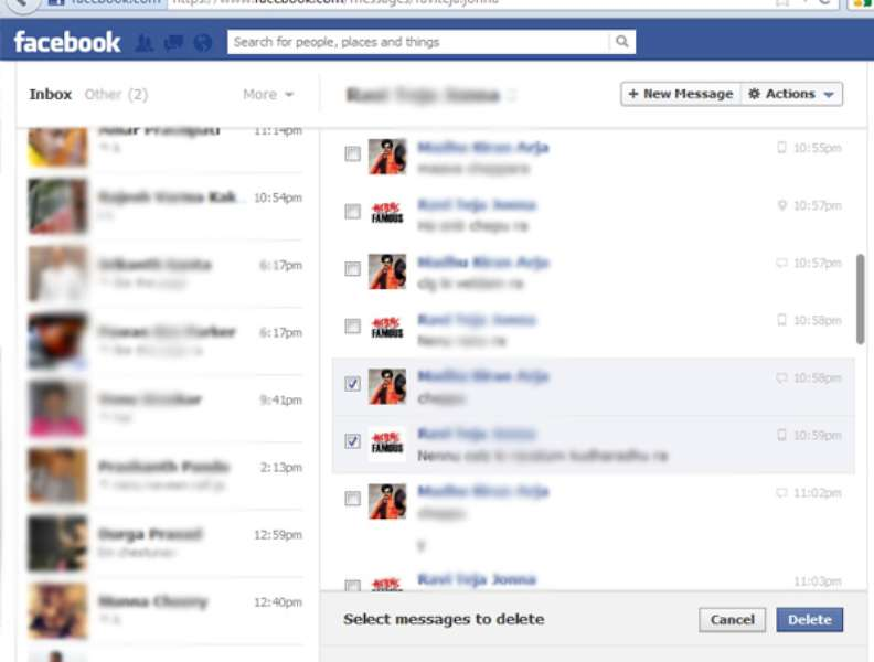 how to get deleted conversation on facebook
