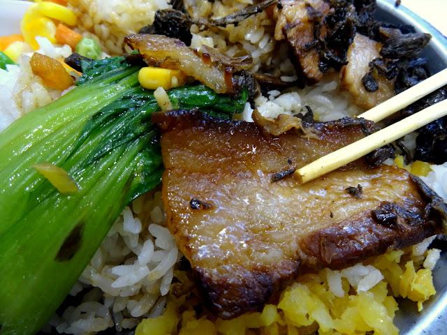 Pork belly + veggie + rice