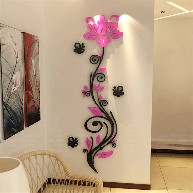 Creative Wall Decor Ideas With Pink Flowers