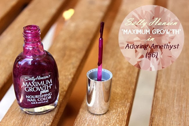 Sally Hansen nail polish Maximum Growth Plus Adoring amethyst